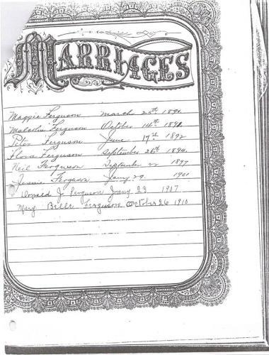 Alexander Fergusons Bible Page