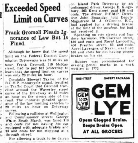 Frank Gromoll speeding