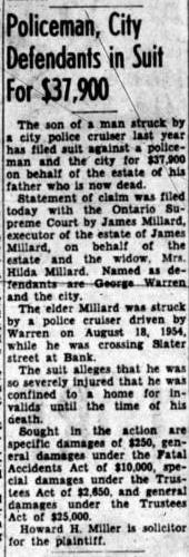 James Millard Struck by car